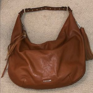 Rebecca minkoff tan leather shoulder bag